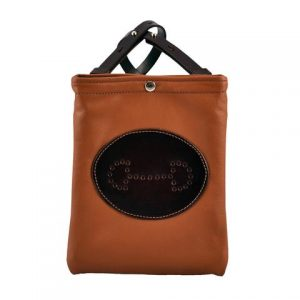 Select-leather-bit-emblem-cross-body-saddle-dark-brown